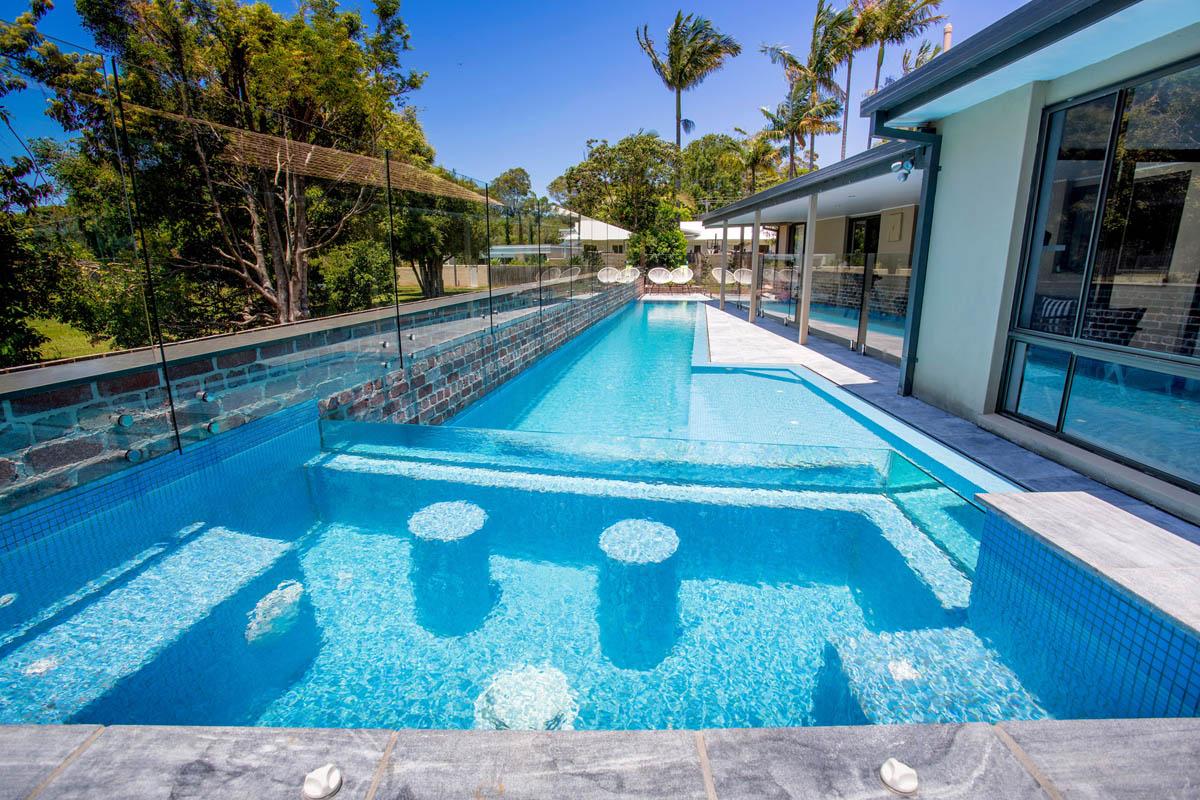 Korora Lap Pool Amp Elevated Glass Spa Atlas Pools